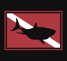 SCUBA Flag Shark One Piece - Short Sleeve