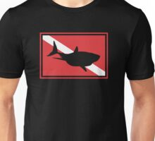 SCUBA Flag Shark Unisex T-Shirt