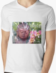 peaceful Buddha Mens V-Neck T-Shirt