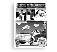 Terror of The Sheep page 1 Canvas Print