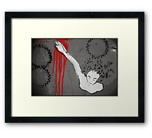 Woman in the Machine Framed Print