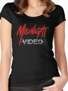 MIDNIGHT VIDEO Women's Fitted Scoop T-Shirt