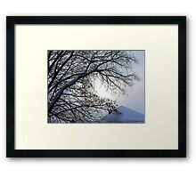 Sunset in a Snowstorm Framed Print