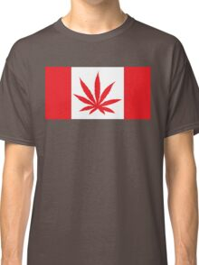 Canadian Flag Marijuana Leaf Classic T-Shirt