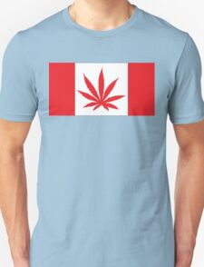 Canadian Flag Marijuana Leaf Unisex T-Shirt