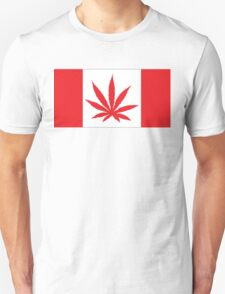 Canadian Flag Marijuana Leaf T-Shirt