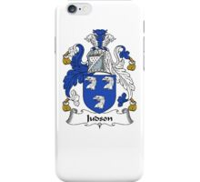Coat of arms (family crest) for last-name or surname Judson . Heraldry banner for your name. iPhone Case/Skin
