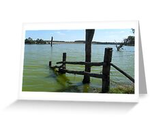 Fence to nowhere.... Greeting Card