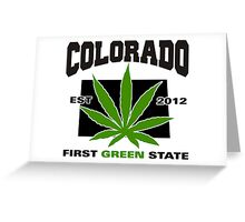 Colorado Marijuana Cannabis Weed T-Shirt Greeting Card