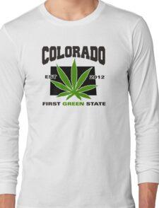 Colorado Marijuana Cannabis Weed T-Shirt Long Sleeve T-Shirt