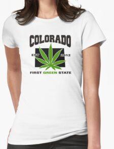 Colorado Marijuana Cannabis Weed T-Shirt Womens Fitted T-Shirt