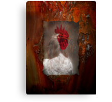 Rusty Red Top Rooster Canvas Print