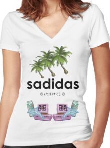 Sadidas Women's Fitted V-Neck T-Shirt
