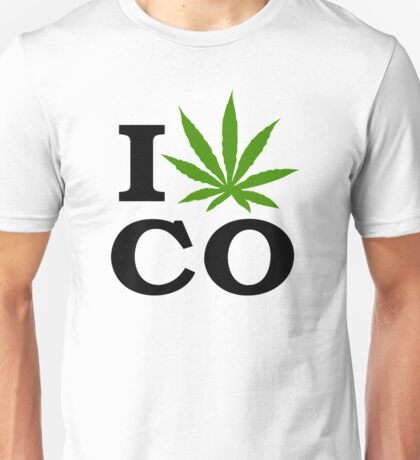 I Marijuana Colorado Unisex T-Shirt