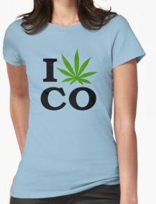 I Marijuana Colorado Womens Fitted T-Shirt