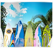 Cool Surfboard Fence Poster