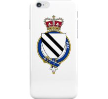Coat of arms (family crest) for last-name or surname Kay (England) . Heraldry banner for your name. iPhone Case/Skin
