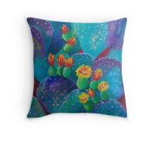 Joyful Prickly Pear Throw Pillow