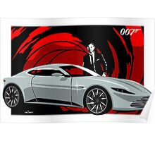 James Bond Aston Martin DB10 from Spectre Poster