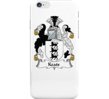 Coat of arms (family crest) for last-name or surname Keats . Heraldry banner for your name. iPhone Case/Skin