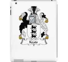 Coat of arms (family crest) for last-name or surname Keats . Heraldry banner for your name. iPad Case/Skin