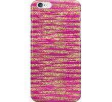Gold Pink Glittery Stripes   iPhone Case/Skin