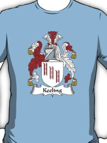 Coat of arms (family crest) for last-name or surname Keeling . Heraldry banner for your name. T-Shirt