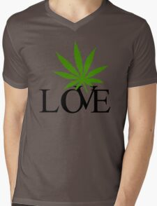 Love Marijuana Mens V-Neck T-Shirt