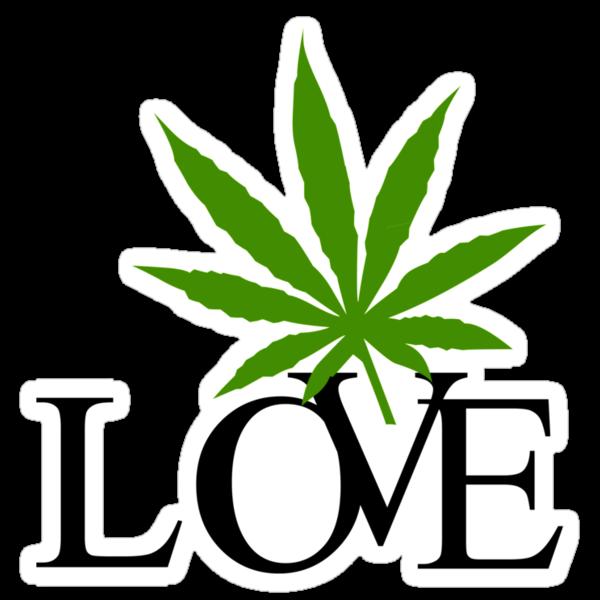 Love Marijuana by MarijuanaTshirt
