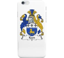 Coat of arms (family crest) for last-name or surname Keen . Heraldry banner for your name. iPhone Case/Skin