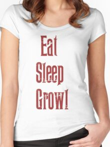 Eat Sleep Growl Women's Fitted Scoop T-Shirt