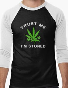Very Funny Stoned Marijuana Men's Baseball ¾ T-Shirt