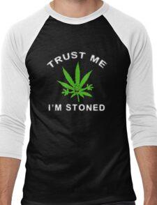 Very Funny Stoned Marijuana Men's Baseball ¾ T-Shirt