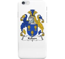 Coat of arms (family crest) for last-name or surname Kellam . Heraldry banner for your name. iPhone Case/Skin