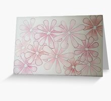 Mystery in mauve Greeting Card