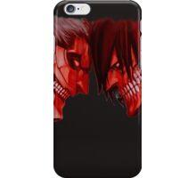 armored titan vs eren titan iPhone Case/Skin