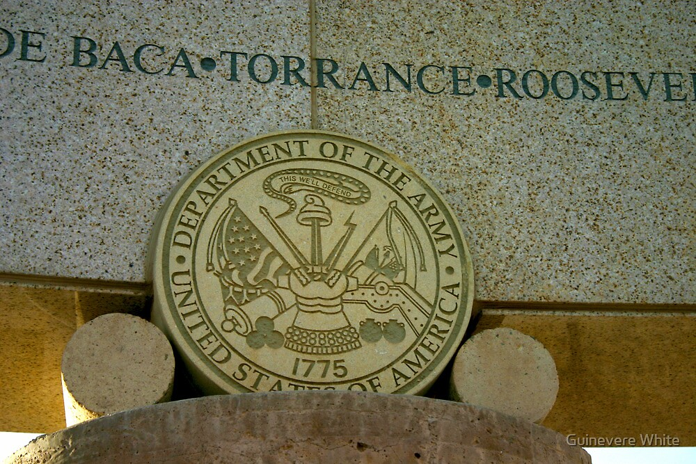 Army Seal at Bataan Memorial by Guinevere White