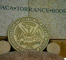 Army Seal at Bataan Memorial by GirlPaint