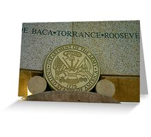 Army Seal at Bataan Memorial Greeting Card