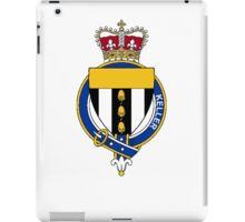 Coat of arms (family crest) for last-name or surname Keller or O'Kelleher (Ireland) . Heraldry banner for your name. iPad Case/Skin