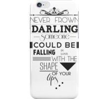 With Your Lips iPhone Case/Skin