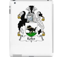 Coat of arms (family crest) for last-name or surname Kellet . Heraldry banner for your name. iPad Case/Skin
