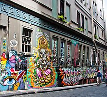 Hosier Lane, Melbourne by Nicole a Alley