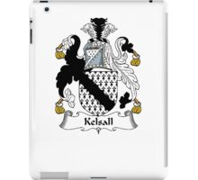 Coat of arms (family crest) for last-name or surname Kelsall . Heraldry banner for your name. iPad Case/Skin
