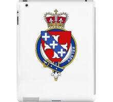 Coat of arms (family crest) for last-name or surname Kelsey (England) . Heraldry banner for your name. iPad Case/Skin