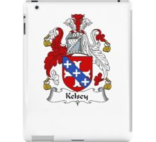 Coat of arms (family crest) for last-name or surname Kelsey . Heraldry banner for your name. iPad Case/Skin