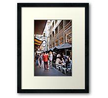 Degraves Street, Melbourne Framed Print