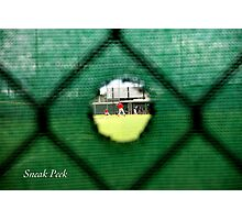 Sneak Peek Photographic Print