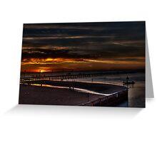 Frankston Pier Sunset (HDR) Greeting Card