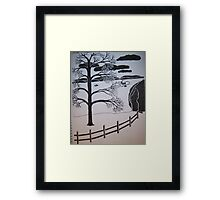 One last chance to fish before the lake freezes over. Framed Print
